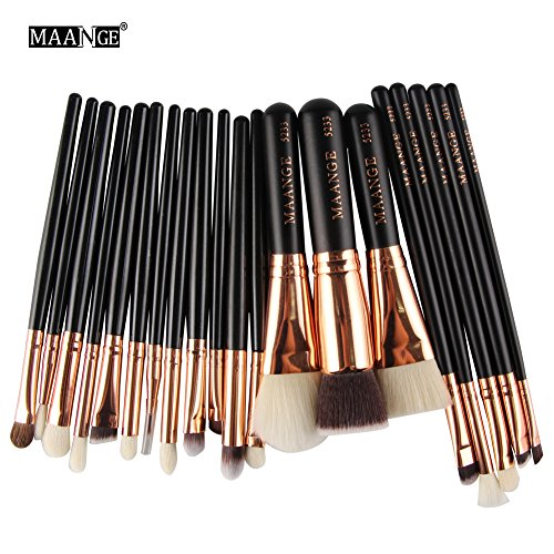 Maange 20 Stück Make-up-Pinsel Set Profi Face Lidschatten Eyeliner Foundation Blush Lip Make-up-Pinsel