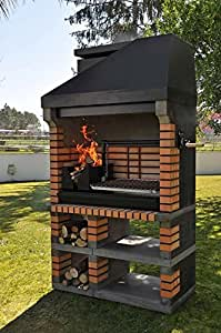 amerikanischer ziegelmauerwerk grill der ultimative holz grill garten. Black Bedroom Furniture Sets. Home Design Ideas