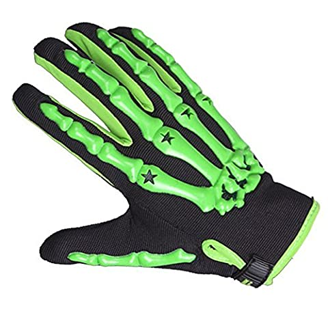Lmeno Full Finger Gloves Skeleton Skull Cycling Sporting Gloves Monster
