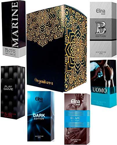 Ensemble de 6 (six) Parfums pour Hommes 15ml Chaque pulvérisation de boîte individuelle. (Eau de Toilette)