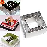 Emporte-pièces carrés, Plain Edge carré Coupe en dégradé Tailles en acier...