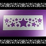 Schablone Bordüre Stern Sterne Sternchen Stars B2B16