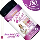 Nurse Hatty 100ct + Get 25 Free Professional Ketone Strips + Ketone Script PDF Info. Pack to Benefit Your Diabetic / Ketogenic Diet - NEW 100% Waterproof 15-Panel Color Chart for Precise Measurement by Nurse Hatty