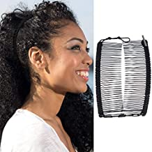Hairzing Cord S-T-R-E-T-C-H Banana Comb, Hair Accessory Perfect For Easy Ponytail, Updo Or Faux Hawk Large Black