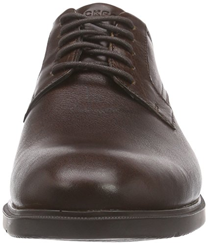 Rockport - City Smart Plain Toe, Scarpe stringate Uomo Marrone (Marrone)