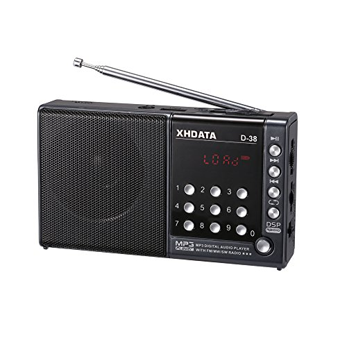 XHDATA® D-38 FM-Stereo / MW / SW / MP3-Player / DSP Vollband Radio D38 (gray)