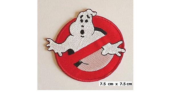 Ghostbuster Comic Kinder Film Ø7,5 cm Aufnäher // Bügelbild rot