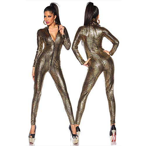 YARUMD Latex Catsuit Colourful House Womens Kostüm