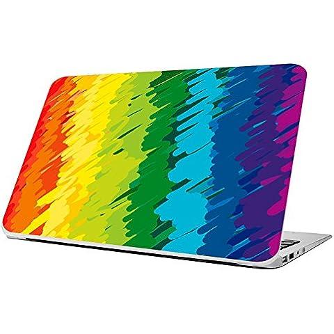 Decusto-Crayon Rainbow-Cover adesiva in vinile per Apple Macbook Pro 15, il