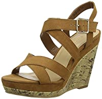 New Look Women�??s Oyster Ankle Strap Sandals, Beige (Tan), 6 UK 39 EU