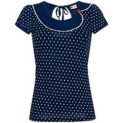 Pussy Deluxe Lovely Marine Camiseta Mujer Azul marino