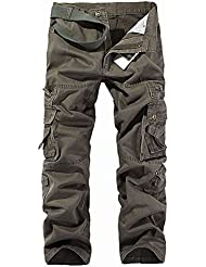 Moin Yardas grandes pantalones de algodón ocasional al aire libre Pantalones militar para hombre