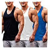 Burlady 3er Pack Herren Tanktop Fitness unterhemd untershirt achselshirt