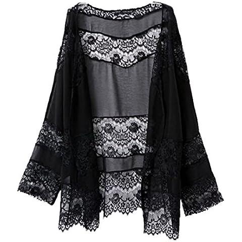 Culater® Las Mujeres Atan Empalme Hueco Kimono Gasa Tapas Abrigo Blusa Chaqueta De Punto
