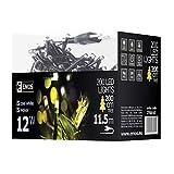 Emos LED Lichterkette Typ Classic Cold, Länge 11,5m, 200 LEDs, 230V mit Stecker, geeignet für Innen Schutzklasse IP20, Farbe: kaltweiß