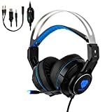 BlueFire 3.5mm Gaming Headset, Over-Ear Noise Cancelling Kopfhörer mit Silikon Mikrofon für PS4 / New Xbox One / Xbox one s / Nintendo Switch / PC / MAC / Laptop / iPad /iPod