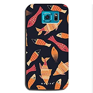 Mozine Fish Pattern Printed Mobile Back Cover For Samsung S6 Edge