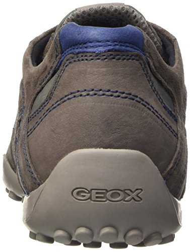 Geox Herren Uomo Snake D Niedrige Schuhe Gelb - Jaune (Grey/Mud)
