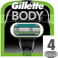 Gillette Body - Cuchillas de recambio de maquinilla para depilar, 4unidades