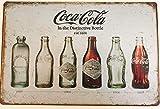 Style Vintage en forme de bouteille de Coca Affiche murale rétro en métal avec inscription 30 x 20 cm