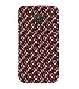 EPICCASE cross diamonds Mobile Back Case Cover For Moto G 2nd Gen (Designer Case)