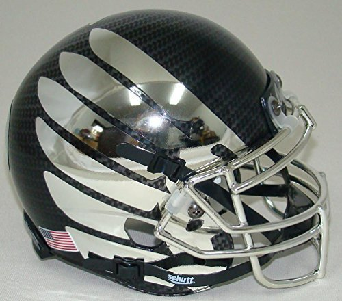 ncaa-oregon-ducks-chrome-wing-and-carbon-fiber-mini-helmet-one-size-white-by-schutt
