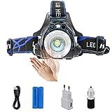 Die besten Wiederaufladbare Headlamps - Boruit LED Kopflampe USB Wiederaufladbar Stirnlampe Taschelampe Upgrade Bewertungen