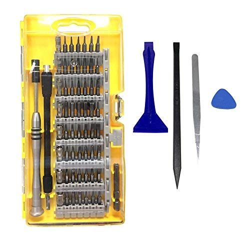 TedGem Schraubendreher Set, mit 56 Bits Magnetische Schraubendreher Satz Werkzeugset, 64 in 1 Magnet Austauschbar Magnetverschluss Hardware Werkzeugset, für Handy, Tablet, PC, Macbook, Uhr etc Telefon-extension-kit