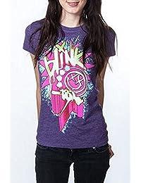 Blink 182 - Heather Purple Static Girlie Shirt