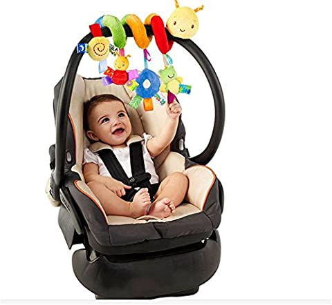 Cute Spiral Activity Stroller Car Seat Cot Lathe Hanging Babyplay Travel Toys , Worm