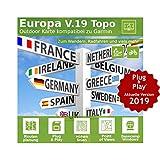 Europa V.19 MAC Version - Profi Outdoor Topo Karte kompatibel zu Garmin Navigation - Zum Wandern, Geocachen, Bergsteigen, Fahrrad, Radfahren, Radtour - MAC Version