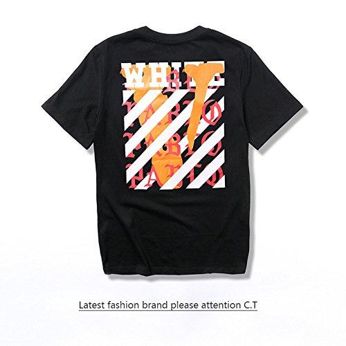 BOMOVO Herren OFF WHITE Premium T-Shirt Schwarz
