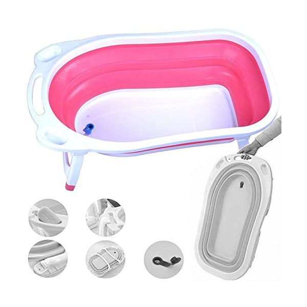 iSafe Foldable Baby Bath - Pink 1