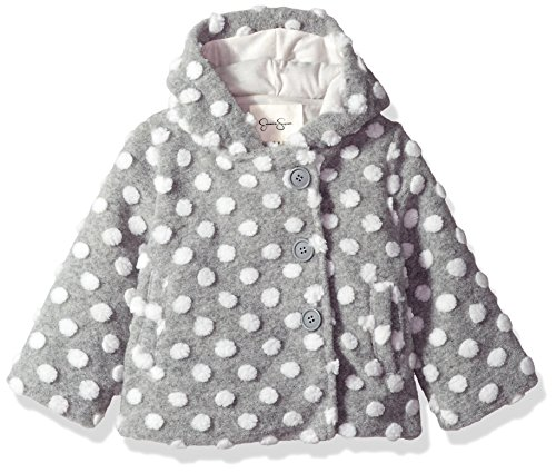 Jessica Simpson Baby Girls' Fashion Outerwear Jacket (More Styles Available), 8017-Heather Grey, 24M -