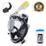 ORSEN Tauchmaske, Easybreath Taucherbrille, Vollgesichtsmaske, Schnorchelmaske, Tauchset mit Earplug /180 Grad Blickfeld, Gopro Kamera Halterung für Erwachsene, Kinder --FDA Matrial