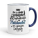Funtasstic Tasse Für den absolut perfektesten Patenonkel - Kaffeepott Kaffeebecher 375 ml, Farbe:kobalt