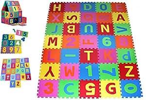 Puzzles & Geduldspiele Puzzle Matte Spielmatte Verzahnte Puzzle Quadrate Kinder Spielzeug Spielteppich