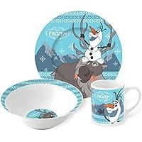 3pezzi in ceramica set Snack, Olaf E Sven (congelati)