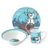 Boyz Toys 3-teiliges Keramik-Snack Set–Olaf & Sven (Frozen)