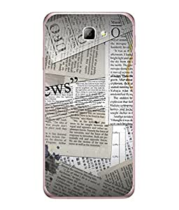 FUSON Designer Back Case Cover for Samsung On5 (2016) New Edition For 2017 :: Samsung Galaxy On 5 (2017) (Book Magazine Clippings Create Text-Based Newspaper)