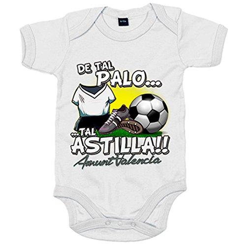 Body bebé De tal palo tal astilla Valencia Club de F´útbol - Blanco