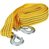 VARSHINE Premium 4M Long || Super Strong Emergency Heavy Duty || Car Tow Cable || 3 Ton Towing Strap Rope || with Dual Forged