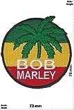 Patch - Bob Marley - round - Reggae - Musicpatch - Rock - Vest - Patches - Aufnäher Embleme Bügelbild Aufbügler