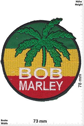 Patch - Bob Marley - round - Reggae - Musicpatch - Rock - Vest - Patches - Aufnäher Embleme Bügelbild Aufbügler Bob Patch