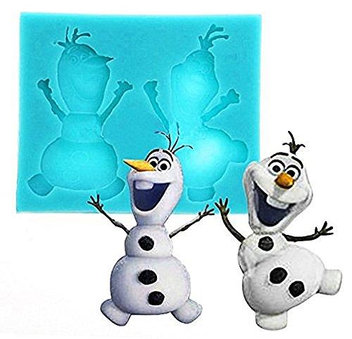 te Silikonform für Nahrungsmittelgebrauch von Zeichentrickfilm-Figur Olaf - Zuckerpaste - Fluxes - Kuchen - Pfannkuchen - Muffins - Dekorationen ()