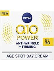 NIVEA Q10 Power Anti-Wrinkle + Firming Age Spot Day Cream SPF30 (50ml), Anti-Ageing Face Cream with Creatine & Q10, Reduces the Appearance of Wrinkles