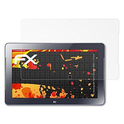 atFolix Folie für Samsung Ativ Tab 5 (Smart PC 500T) (11.6 Inch) Displayschutzfolie - 2 x FX-Antireflex-HD hochauflösende entspiegelnde - Smart 500t Pc Samsung