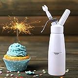 BTdahong 0.5L Sahnespender Sahnesiphon Creme Whipper + 3X Zusätzliche Düsen, Sahne-Geräte für Küchen Aluminium