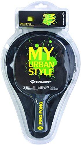 Donic-Schildkröt MY Urban Sytle, 1x Schläger+Hülle+Bälle, 788485 Tischtennis Set, Schwarz Gelb, M Beläge Für Die Schule