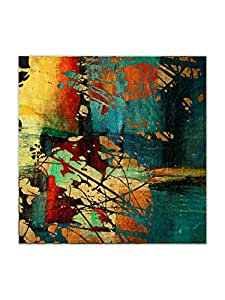 999Store Wooden Framed Printed Grunge Vintage Canvas Painting (24X24 Inches)